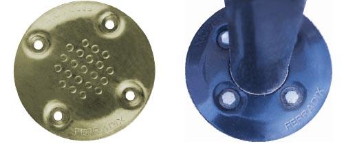 FERRADIX-Einschlaghülse: Lackierte Spann- und Abdeckplatten