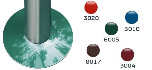 Zierblende in verschiedenen Farben für FERRADIX-Bodenanker
