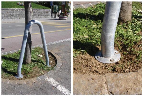 Baumschutzbügel mit Einschlagbodenülse